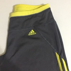 Gray Adidas knee length capri